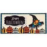 Witch Hat & Pumpkins Mat