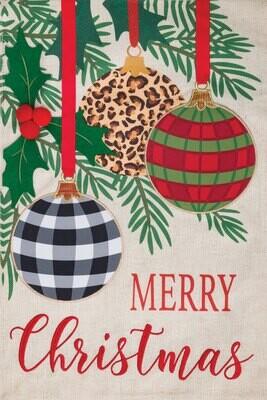 Burlap Three Ornaments Flag