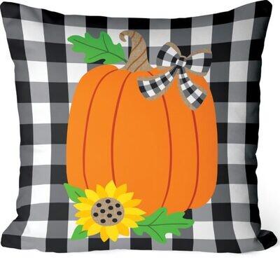 Gingham Pumpkin Pillow