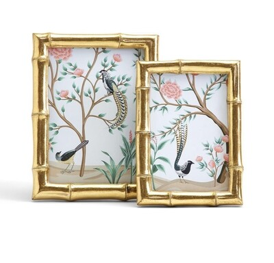 Gold Faux Bamboo Photo Frame
