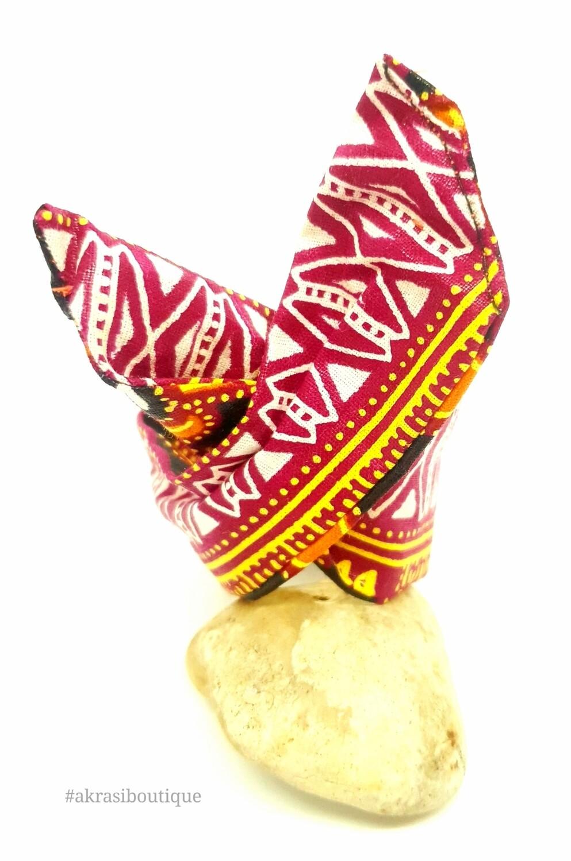 Ankara print wire twist bun tie | African print bun wrap | Ankara print headtie | wire hair tie