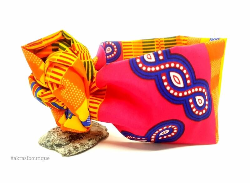 Supreme Kente print wire twist hair tie   hair wrap   headband   African print headwrap   Ankara print wire headtie   wire hair tie