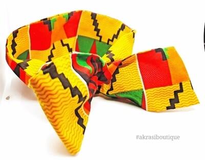 Kente print wire twist hair tie | hair wrap | headband | African print headwrap | Ankara print wire headtie | wire hair tie
