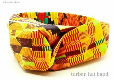 Custom handmade Kente hatband for Freestyle