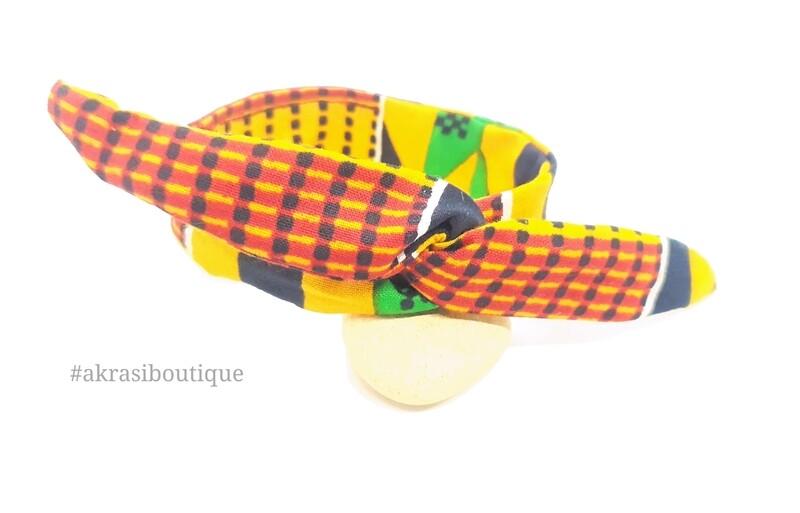 African kente print wire twist bun tie | African print bun wrap | Ankara print headtie | wire hair tie