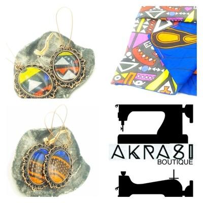 Custom handmade kente and ankara set for spaceship massah