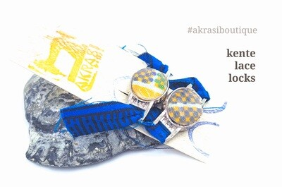 African wax kente print shoe tag | kente lace locks | clothing accessories