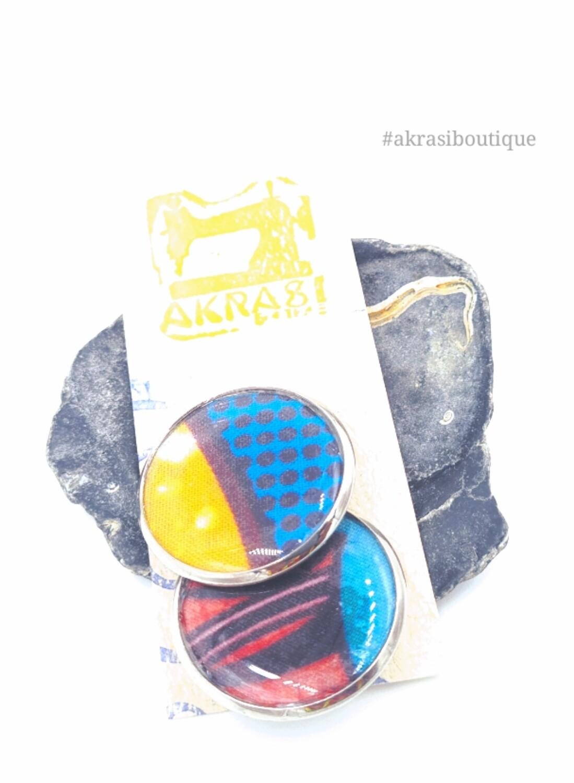 African wax print button pins | Ankara button badge | Kente pin