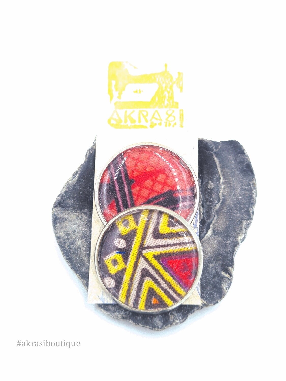 African wax print button pins | Ankara button badge | dashiki pin
