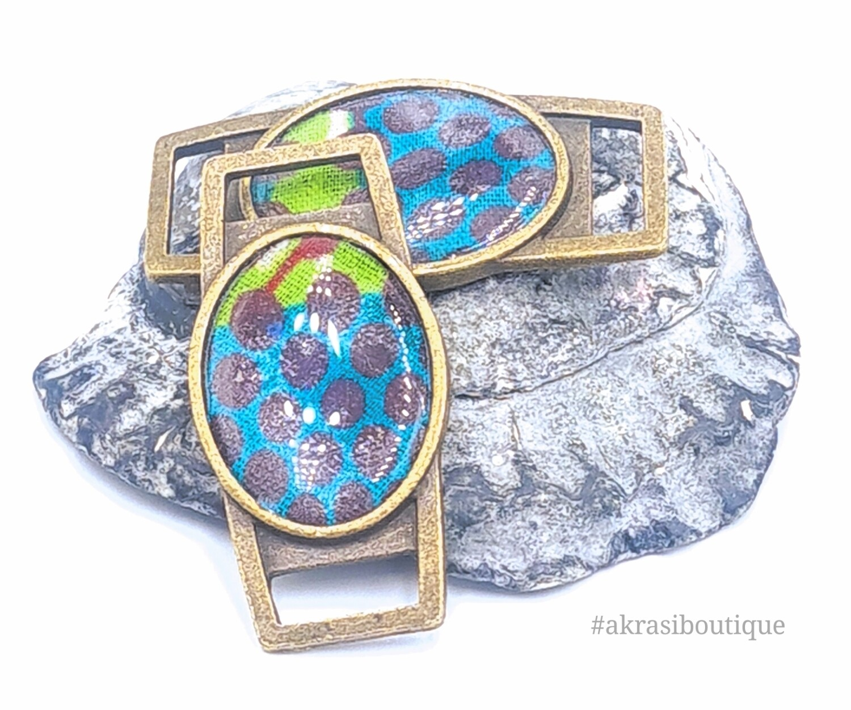 African wax print shoe tag | ankara lace locks | clothing accessories