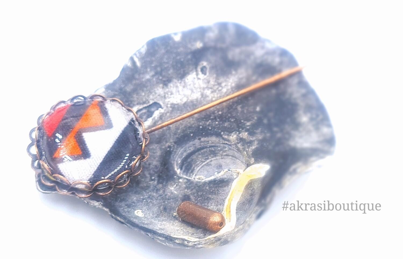 Dashiki detail lapel pin | contemporary kente pin | hat pin