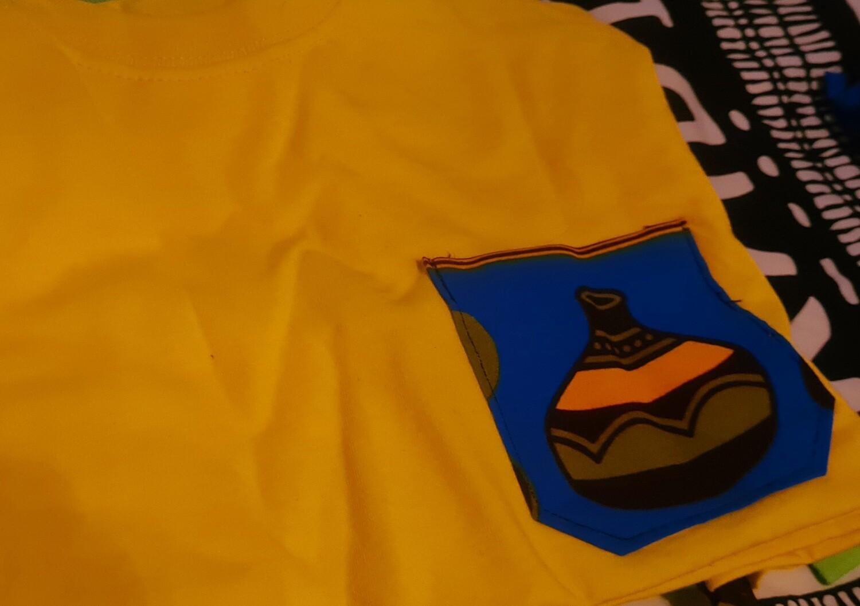 Pots T-shirt and chokoto Yellow