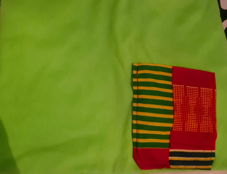 Kente T-shirt and chokoto Green