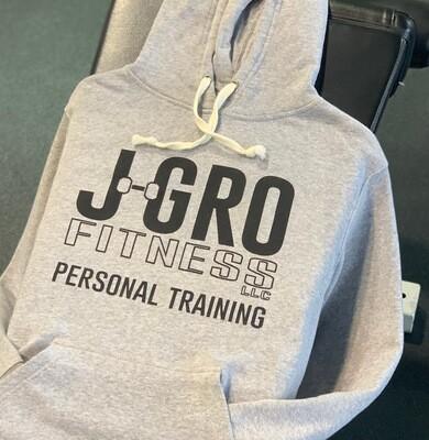 Grey J-Gro Logo Hoodie