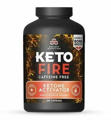 Keto Fire Ketone Activator Caffeine Free - 180 Capsules