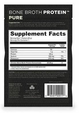 Bone Broth Protein Powder Pure Single Serving