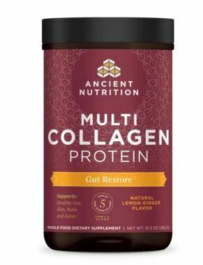 Multi Collagen Protein Powder Gut Restore Lemon Ginger Flavor - 10.3 oz
