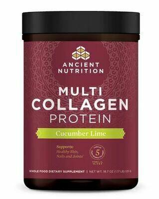 Multi Collagen Protein Powder Cucumber Lime - 18.7 oz