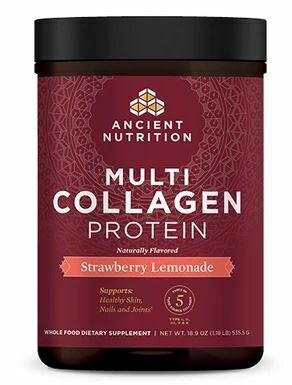 Multi Collagen Protein Powder Strawberry Lemonade - 18.9 oz