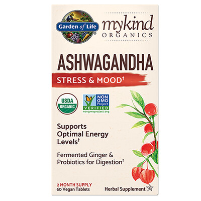 mykind Organics Ashwagandha Stress and Mood - 60 Tablets
