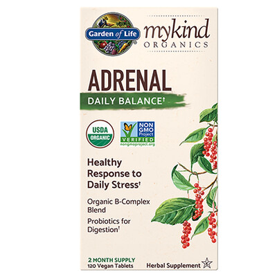 mykind Organics Adrenal Daily Balance - 120 Tablets