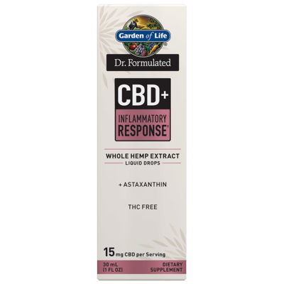 Dr Formulated CBD+ Innflammatory Response Liquid Drops - 1 oz