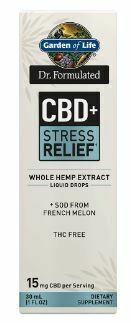 Dr Formulated CBD+ Stress Relief Liquid Drops - 1 oz