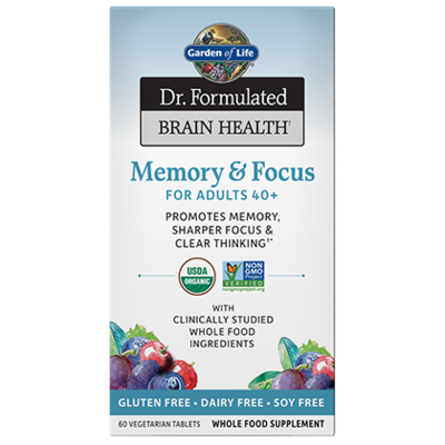 Dr Formulated Memory & Focus for Adults 40+ - 60 Tablets