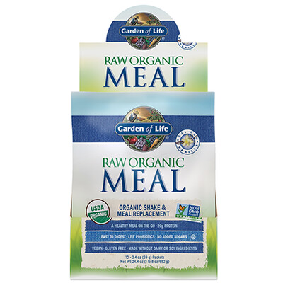 Raw Organic Meal Shake and Meal Replacement Vanilla - Single Serving