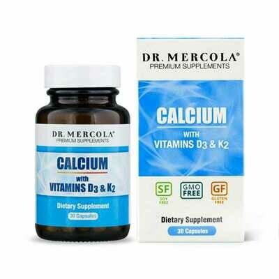 Calcium with Vitamins D3 & K2 - 30 Capsules