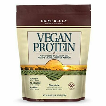 Vegan Protein Powder Chocolate - 1 lb 6.5 oz