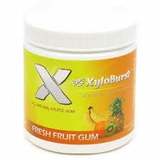 XyloBurst Xylitol Chewing Gum Fruit - 100 Pieces