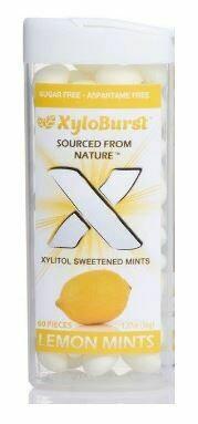 XyloBurst Xylitol Lemon Mints - 60 Pieces