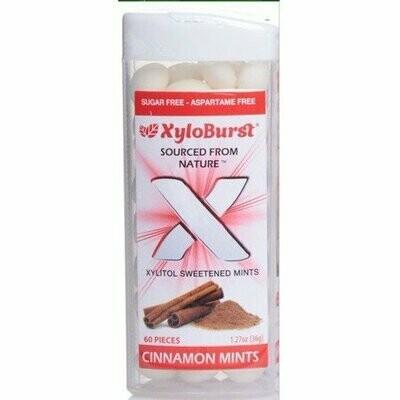 XyloBurst Xylitol Cinnamon Mints - 60 Pieces