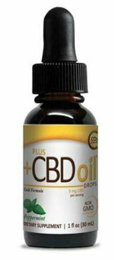 CBD Gold Drops Peppermint  - 1 oz
