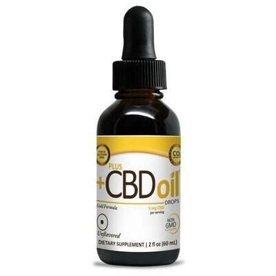 CBD Gold Extra Strength Drops Unflavored - 1.86 fl oz