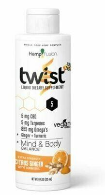 Twist Citrus Ginger CBD Hemp Extract - 8 oz