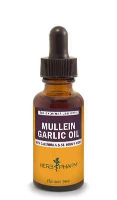 Mullein/Garlic Oil - 1 oz.