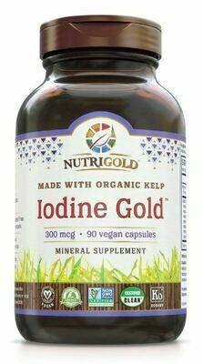 Iodine Gold 300 mcg - 90 Capsules
