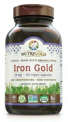 Iron Gold 18 mg - 60 Capsules