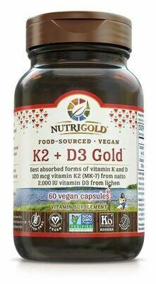 Vitamin K2 +  D3 Gold - 60 Capsules