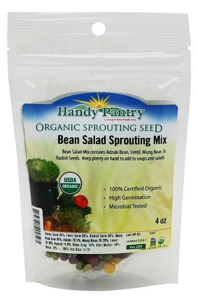 Handy Pantry Sprouting Seed Bean Salad Organic - 4 oz