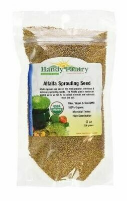 Handy Pantry Sprouting Seed Alfalfa Organic - 8 oz