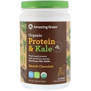 Organic Protein & Kale Powder Smooth Chocolate - 19.6 oz