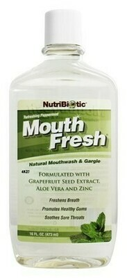 MouthFresh Natural Mouthwash and Gargle Peppermint - 6 oz
