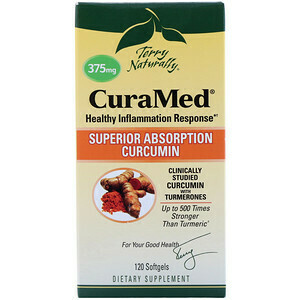 CuraMed 375 mg Superior Absorbtion Curcumin - 120 Softgels