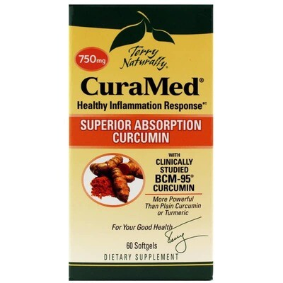 CuraMed 750 mg Superior Absorption Curcumin - 60 Softgels