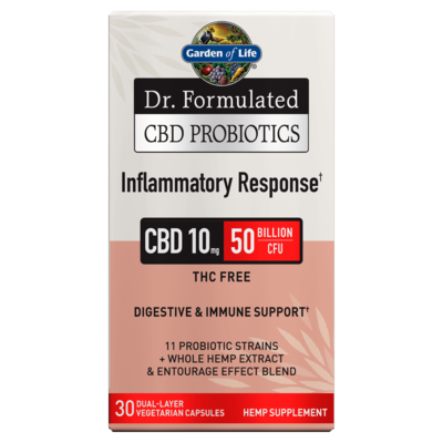 Dr Formulated CBD Probiotics Inflammatory Response - 30 Capsules