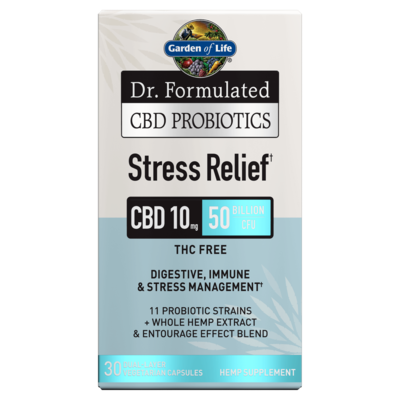 Dr Formulated CBD Probiotics Stress Relief - 30 Capsules
