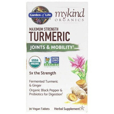 mykind Organics Turmeric Maximum Strength Joints & Mobility - 30 Tablets